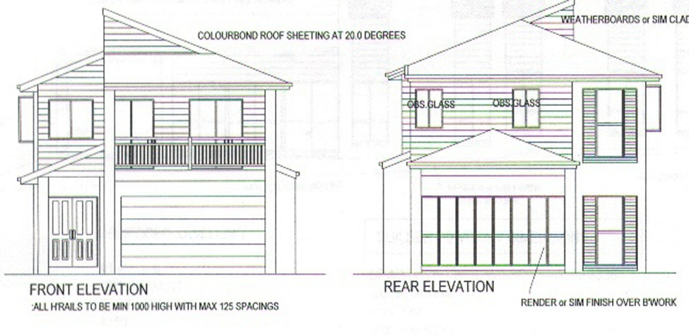 Small blocks 10m frontage austranquility homes for 10m frontage home designs