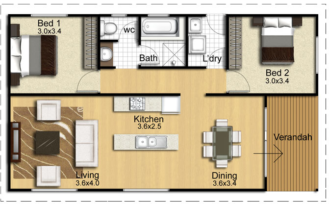Thinking about a granny flat austranquility homes for 2 bedroom granny flat plans