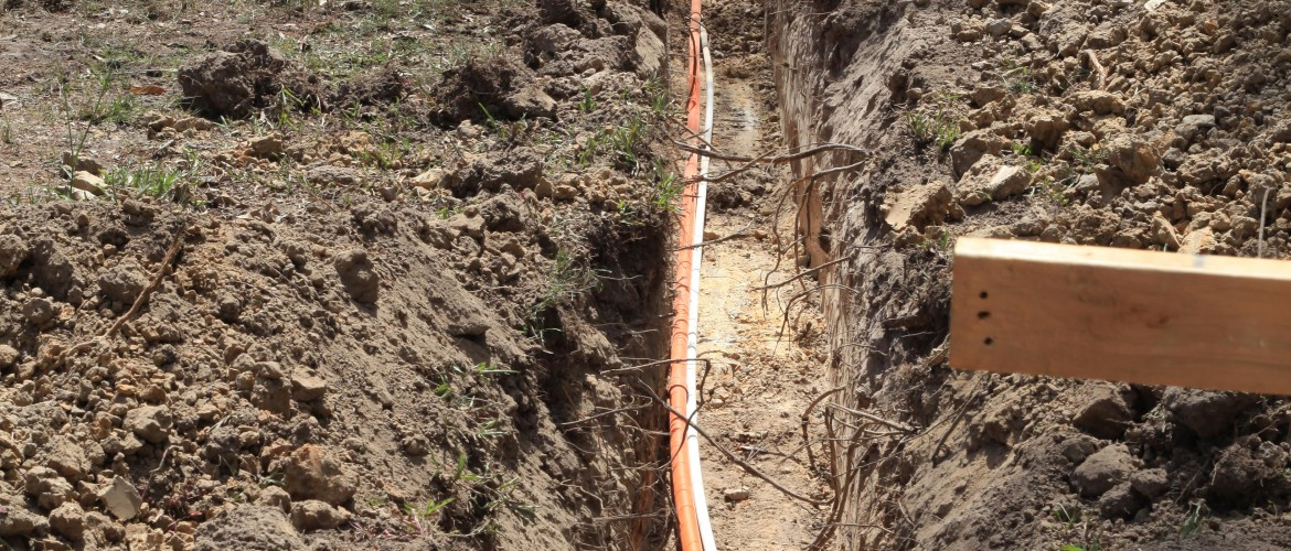 Plumbing Electricial Trench